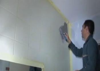 Aplicacion de microcemento sobre azulejos de ba o - Microcemento sobre azulejos ...