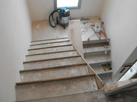 Aplicacion de microcemento sobre una escalera - Como aplicar microcemento ...