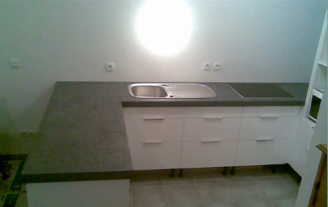 Aplicacion de microcemento sobre encimera de cocina - Encimeras de microcemento ...
